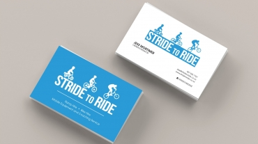 Stride to Ride Business Cards